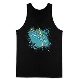 Hollywood Boulevard Splash Black M Mens Tank Top