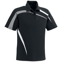 Ash City Mens Impact Pique Color Block Polo