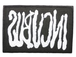 """INCUBUS Logo Iron On Embroidered Band Patch 3.1""""/8cm x 2.1""""/"""