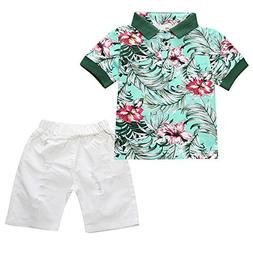 Infant and Toddler Baby Boys Kids Hawaiian Shirt and Ripped