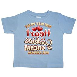 inktastic - Cookies N Cream Ice Cream Toddler T-Shirt 4T Lig