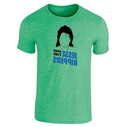 Pop Threads Jesse and The Rippers Band Heather Irish Green M
