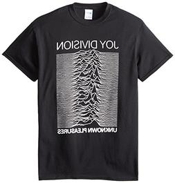 Impact Men's Joy Division Unknown Pleasures T-Shirt, Black,