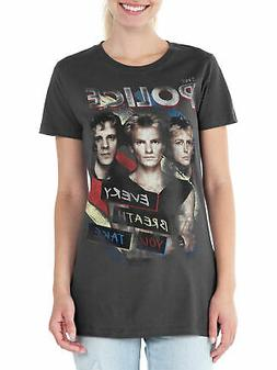 Juniors The Police Rock Band T-Shirt Gray Every Breath You T