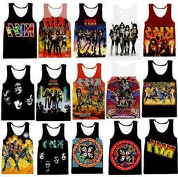 Kiss band Sleeveless Shirt Tank Top Bodybuilding Gym Singlet