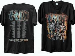 Kiss-Band T-shirt Two Side End-Of-The Road World Tour Concer