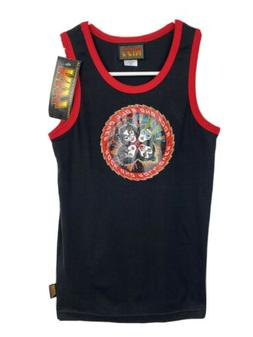"""Kiss Band Tank Top T Shirt Womens M """"Rock And Roll Over"""""""