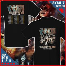 KISS Rock Band End of The Road Tour 2019 T shirt Black Cotto