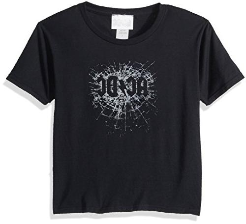 AC/DC Little Boys' ACDC Shattered Glass T-Shirt, Black, 5/6