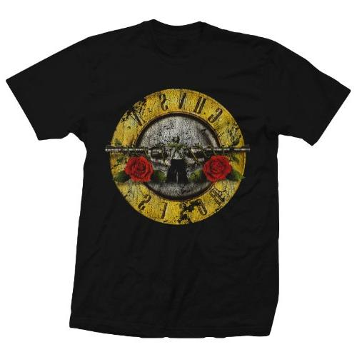 Bravado Guns N Roses Distressed T-Shirt BLACK Lg