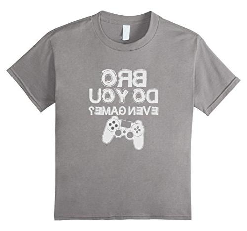 Kids Bro, Do You Even Game? T-Shirt 12 Slate