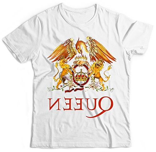 Queen Band FREDDIE Shirt Crest Logo T-Shirt ROCK BAND TEE WINGS KIDS AND ADULTS