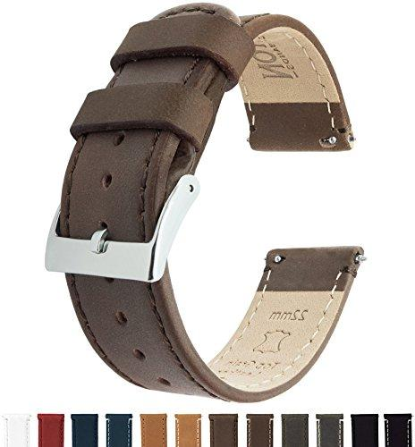 barton quick release top grain leather watch