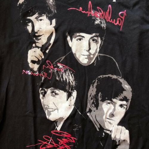beatles signatures t shirt nwt official licensed