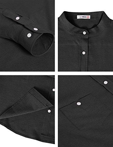 Collar Button Down Oxford Shirts Black US XL/Asia 2XL