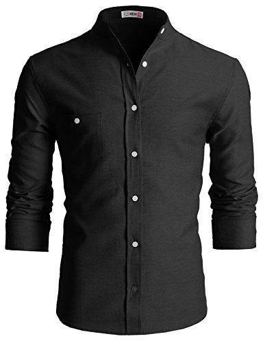 H2H Casual Band Collar Shirts 2XL