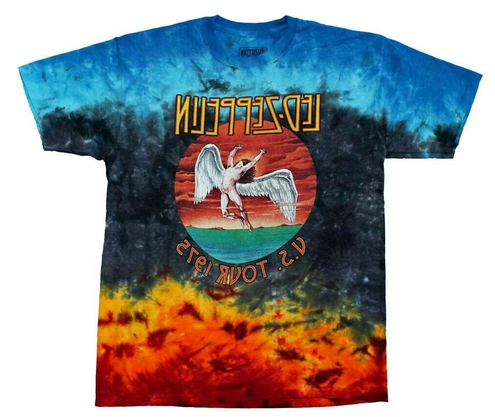 classic led zeppelin icarus colorful tie dye