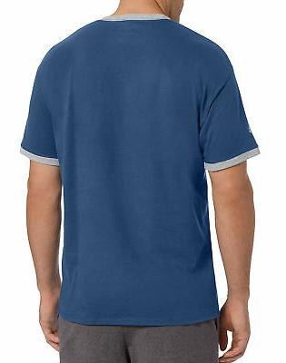 Champion Mens Classic Jersey Ringer 100% Cotton