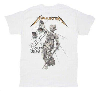 metallica and justice for all white t