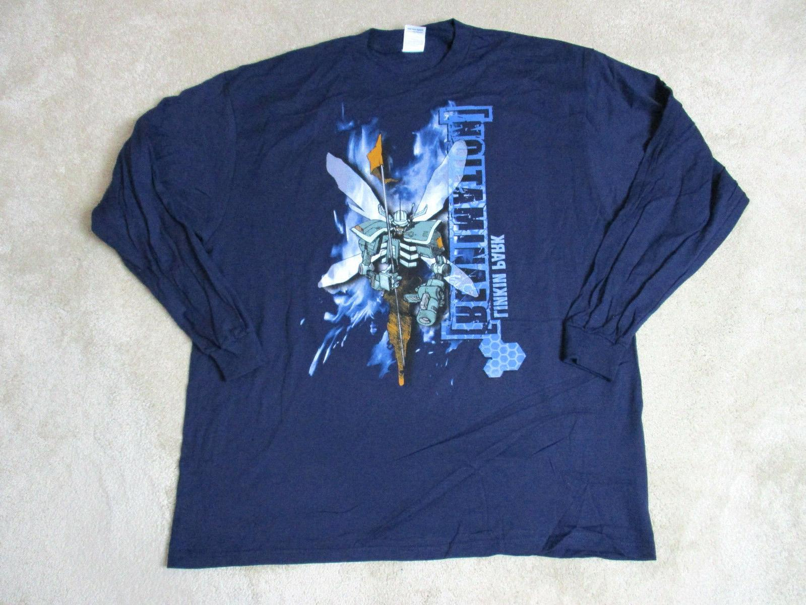 NEW Linkin Park Reanimation Concert Shirt Adult Large Blue B