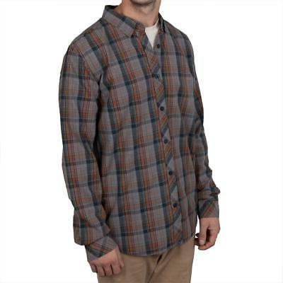 o neill casbar navy plaid long sleeve
