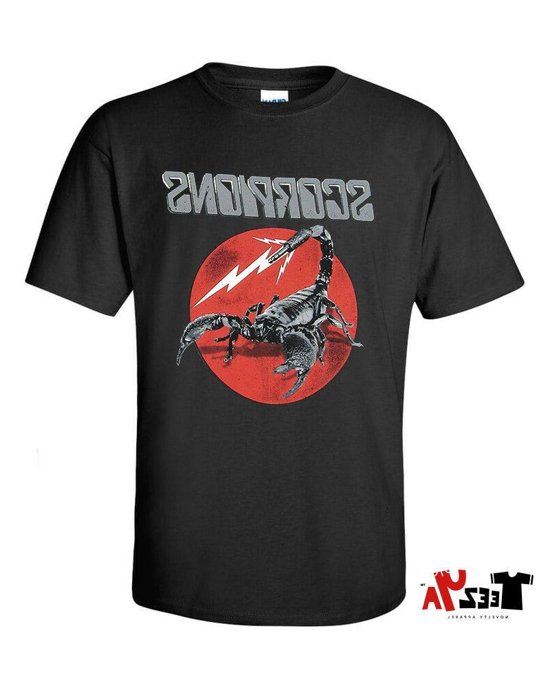 scorpions t shirt metal rock music band