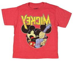 Disney Little Boys' Mickey Mouse Rocks Out Graphic Tee T-Shi