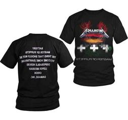 Metallica Master Of Puppets Rock Band Metal Adult Mens T Tee