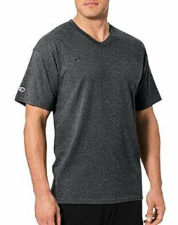 Champion Men's Classic Jersey V-Neck T-Shirt, Granite Heathe