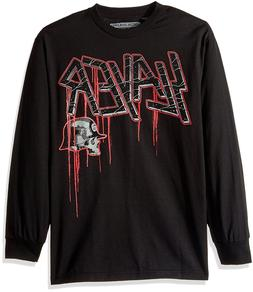 Metal Mulisha Men's Crack Long Sleeve Slayer Band Tee Motocr