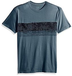 RVCA Men's PTC Dye Band Shirt, Blue Slate, Medium