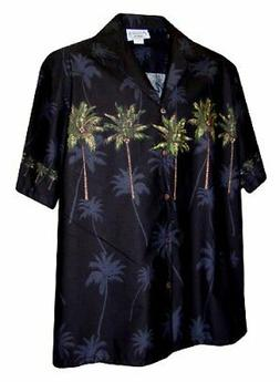 Pacific Legend Mens S to 4X Coconut Tree Chest Band Shirt