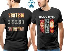 meshuggah destroy erase improve font b shirt
