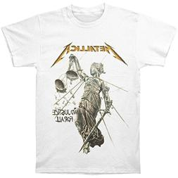 Metallica Men's Justice White T-shirt Medium White
