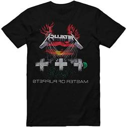 Bravado Men's Metallica-Master Of Puppets T-Shirt,Black,Medi