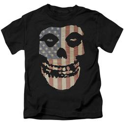 MISFITS FIEND FLAG Licensed Toddler Kids Graphic Band Tee Sh
