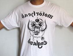 MOTORHEAD ENGLAND WAR PIG ROCK BAND WHITE T-SHIRT