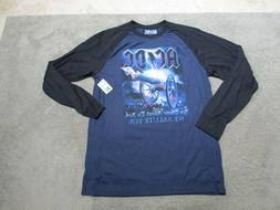 NEW ACDC About To Rock Concert Shirt Adult Large Blue Rock N