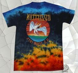 New Led Zeppelin Icarus Colorful Tie Dye U.S. Tour 1975 Mens