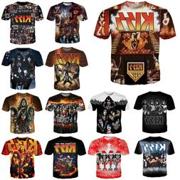New Men/Womens KISS Band Series Player 3D Print Casual T-Shi