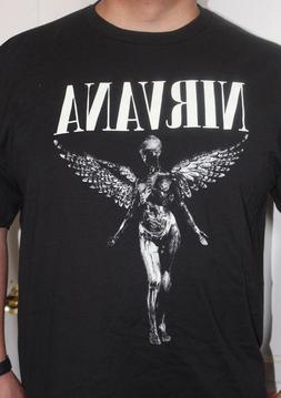 NEW NIRVANA ROCK BAND T-SHIRTS - OFF WHITE ANGEL