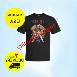 NEW QUEEN LEGENDARY ROCK BAND FREDDY MERCURY TRIBUTE LOGO T