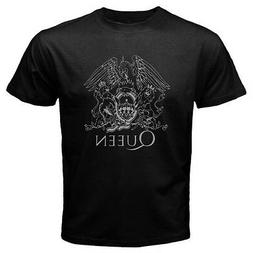 New QUEEN Logo Rock Band Legend  Men's Black T-Shirt Size S