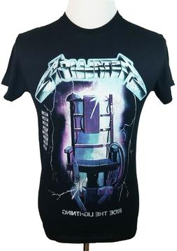 New Metallica Ride The Lightning  Mens Small Black Graphic T