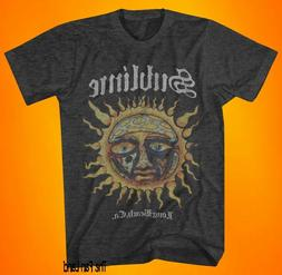 New Sublime Sun Face Vintage 1996 Charcoal Mens Classic T-Sh