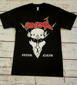 NEW - VENOM - RED LETTERS - BLACK METAL -  BAND T-SHIRT