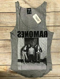 NWT woman Ramones Band Shirt Sleeveless British Punk Heather