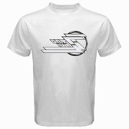 New ZZ TOP Logo Classic Retro Rock Band Men's White T-Shirt