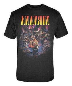 FEA Men's Nirvana Live Concert Photo Men's T-Shirt,Black,Sma