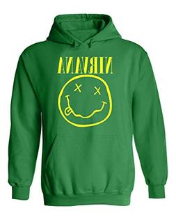 Nirvana Rock Band with Smiley Face Unisex Pullover Hoodie Ho